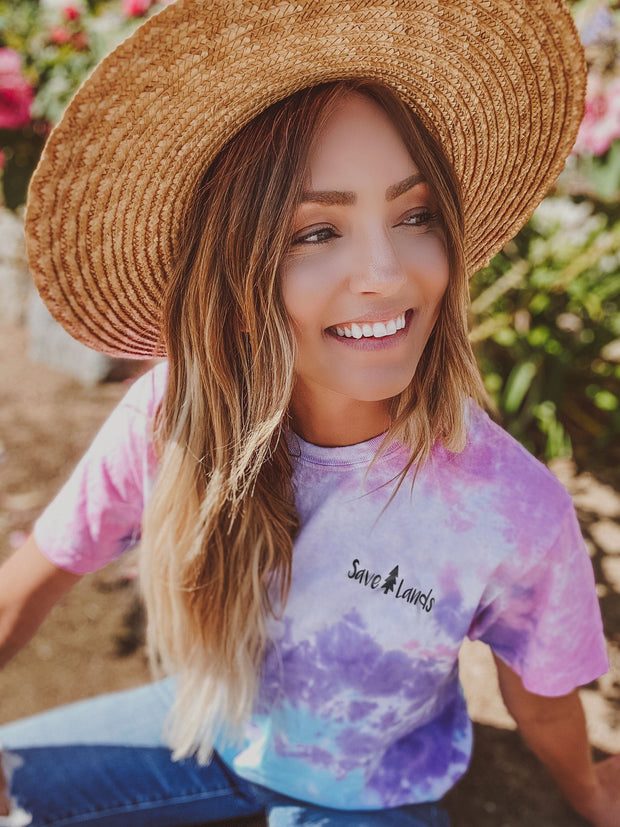 Simple Black Logo Cotton Candy Tie Dye Tee 1000 - COTTON CANDY Lands