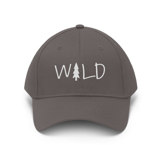 Wild Hat (White Text) Hats Printify Charcoal One size