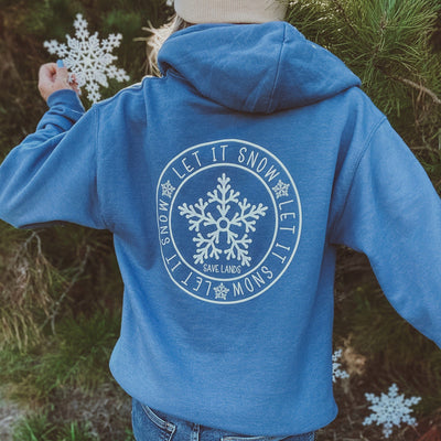 Let It Snow Hoodie (Back Print) 18500 Lands Indigo S