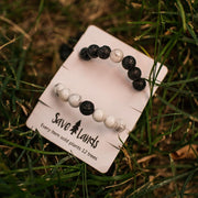 Black And White Stones Bracelet Jewelry Lands