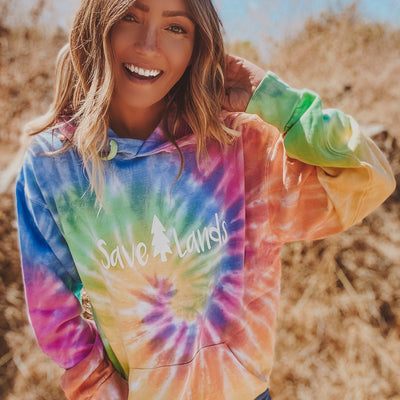 Classic White Logo Eternity Tie Dye Hoodie 8777 ETERNITY Lands S