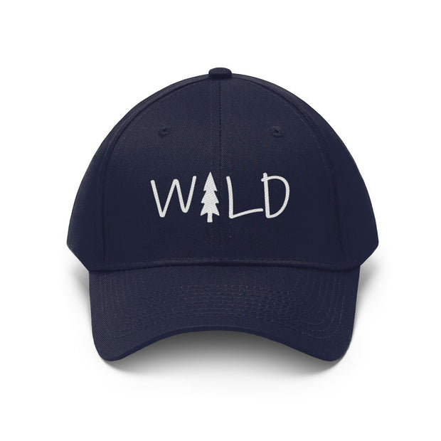 Wild Hat (White Text) Hats Printify True Navy One size