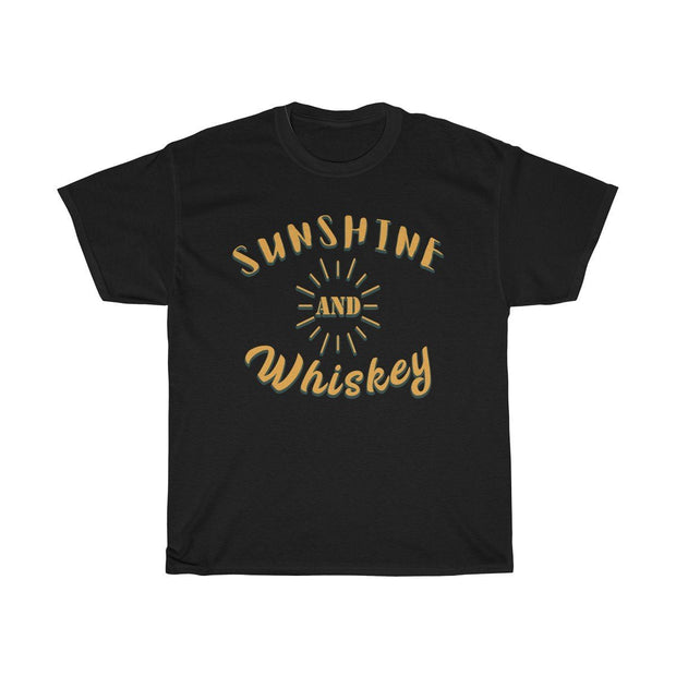 Sunshine & Whiskey Tee T-Shirt Printify Black S