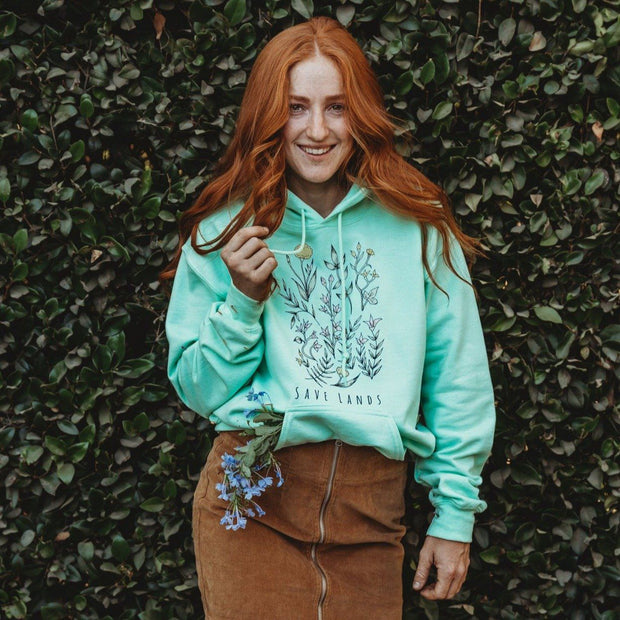 Botanical Hoodie 18500 Lands Mint S