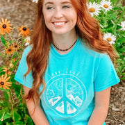 Mountain Peace Sign Tee 5000 Lands