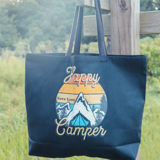 Mountain Happy Camper Tote Bag Q600 Lands