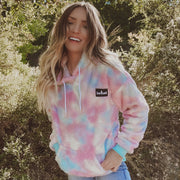 PREORDER Pastel Tie Dye Save Lands Hooded Sherpa Sherpa Lands S