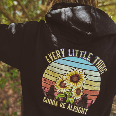 Every Little Thing (Back Print) Hoodie 18500 Lands Black S