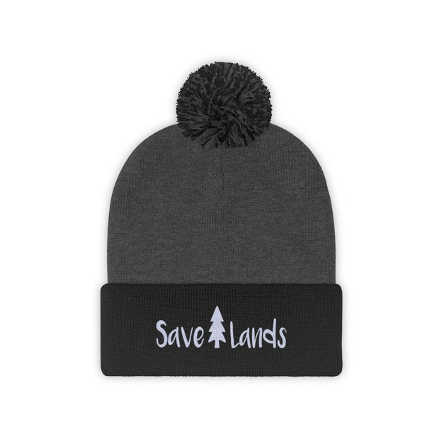Save Lands Beanie Hats Printify Black/Graphite Heather One size