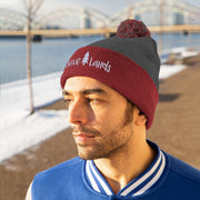 Save Lands Beanie Hats Printify Red/Graphite Heather One size