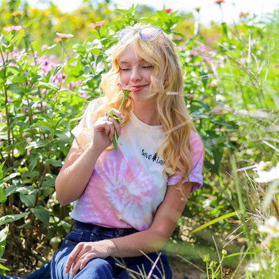 Simple Black Logo Zen Rainbow Tie Dye Tee 1000 - ZEN RAINBOW Lands S