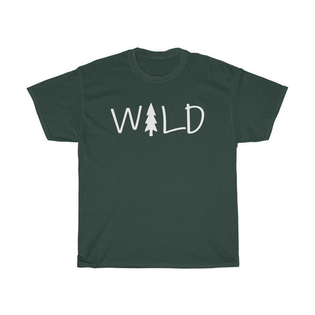Wild Tee T-Shirt Printify Forest Green S