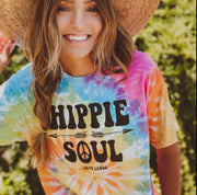 Hippie Soul Eternity Tie Dye Tee 1000 ETERNITY Lands S