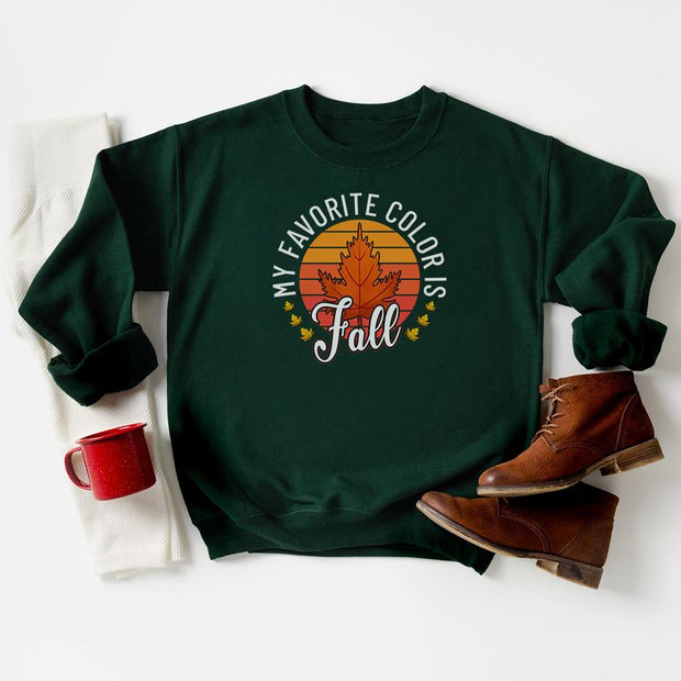 My Favorite Color Is Fall Crewneck 18000 Lands