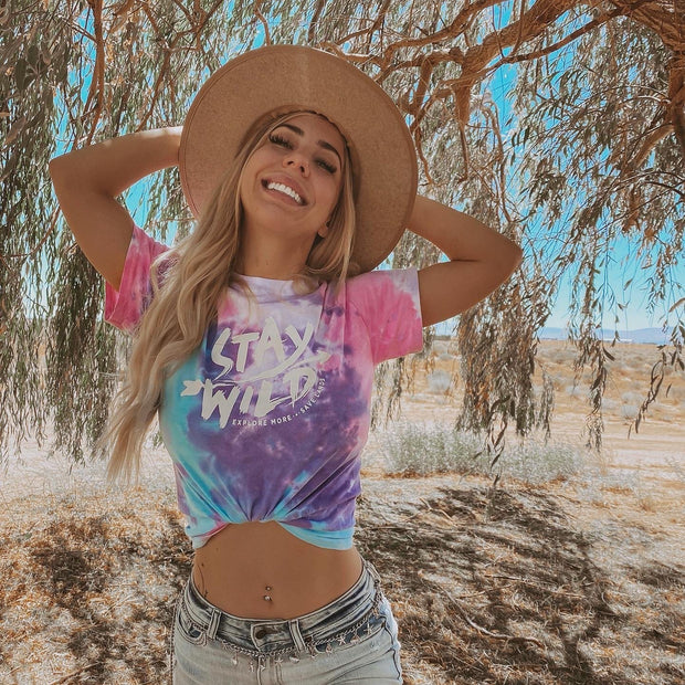 Stay Wild Cotton Candy Tie Dye Tee 1000 - COTTON CANDY Lands
