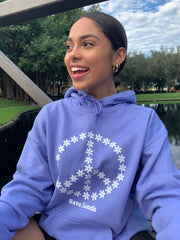 Flower Peace Sign Hoodie 18500 Lands
