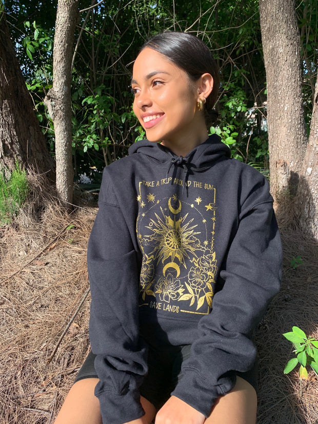 Around The Sun Hoodie (Front Print) 18500 Lands