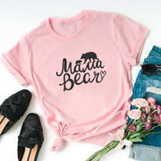 Mama Bear Tee T-Shirt Printify Light Pink L