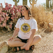 Save The Bees Sunflower Tee 5000 Lands White L