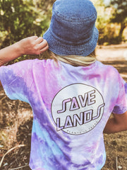 Modern Coin Cotton Candy Tie Dye Tee (Back Print) 1000 - COTTON CANDY Lands