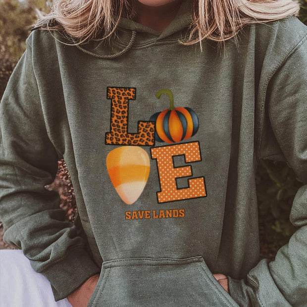 Love Save Lands Hoodie 18500 Lands