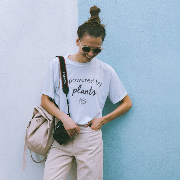 Powered by Plants Tee T-Shirt Printify White L