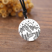 Mountain Range Carved Pendant Lands