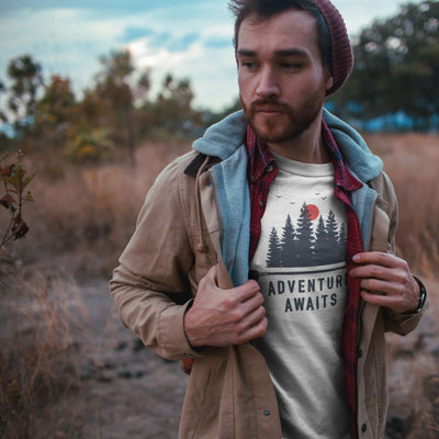 Men's Adventure Awaits Tee T-Shirt Printify White L
