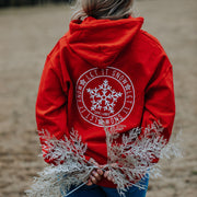 Red Let It Snow Hoodie (Back Print) 18500 Lands Red S