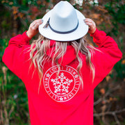 Red Let It Snow Hoodie (Back Print) 18500 Lands