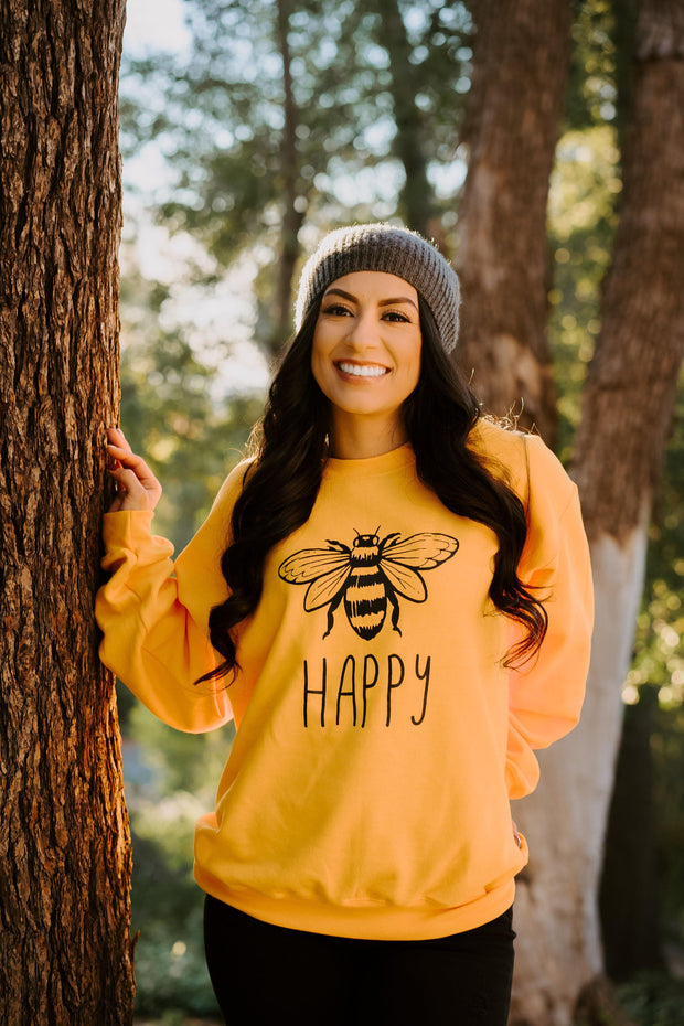 Bee Happy Crewneck 18000 Lands