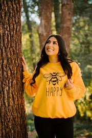 Bee Happy Crewneck 18000 Lands Gold S