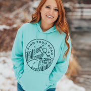Lands Find Your Road Hoodie 18500 Lands Cool Mint S