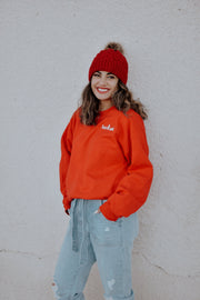 Red Let It Snow Crewneck (Back Print) 18000 Lands