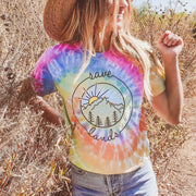 Watercolor Coin Eternity Tie Dye Tee 1000 - ETERNITY Lands S