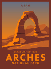 Load image into Gallery viewer, Arches National Park | Vintage Inspired Travel Poster
