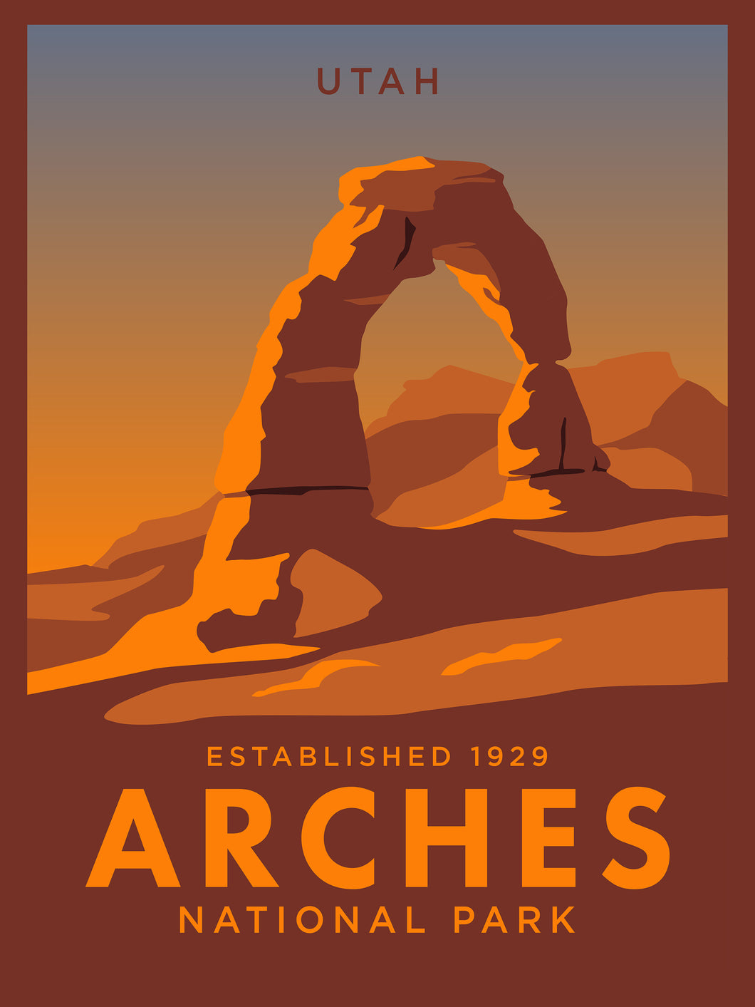 Arches National Park | Vintage Inspired Travel Poster