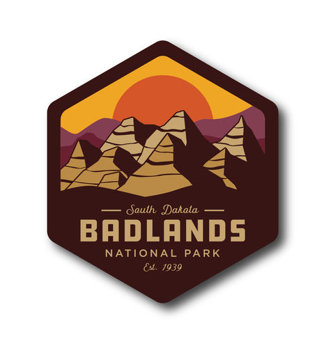 Badlands National Park Sticker