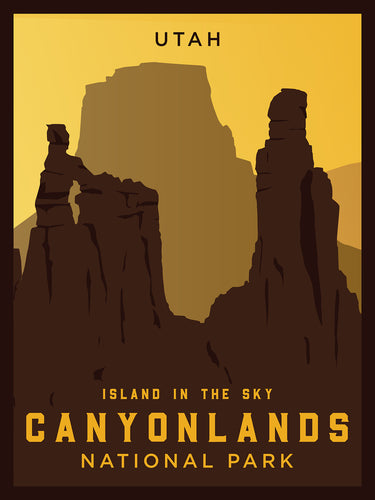 Canyonlands National Park | Vintage Inspired Poster