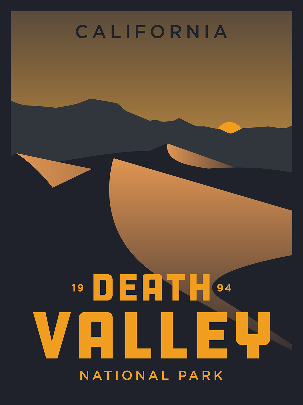 Death Valley National Park | Vintage Inspired Poster