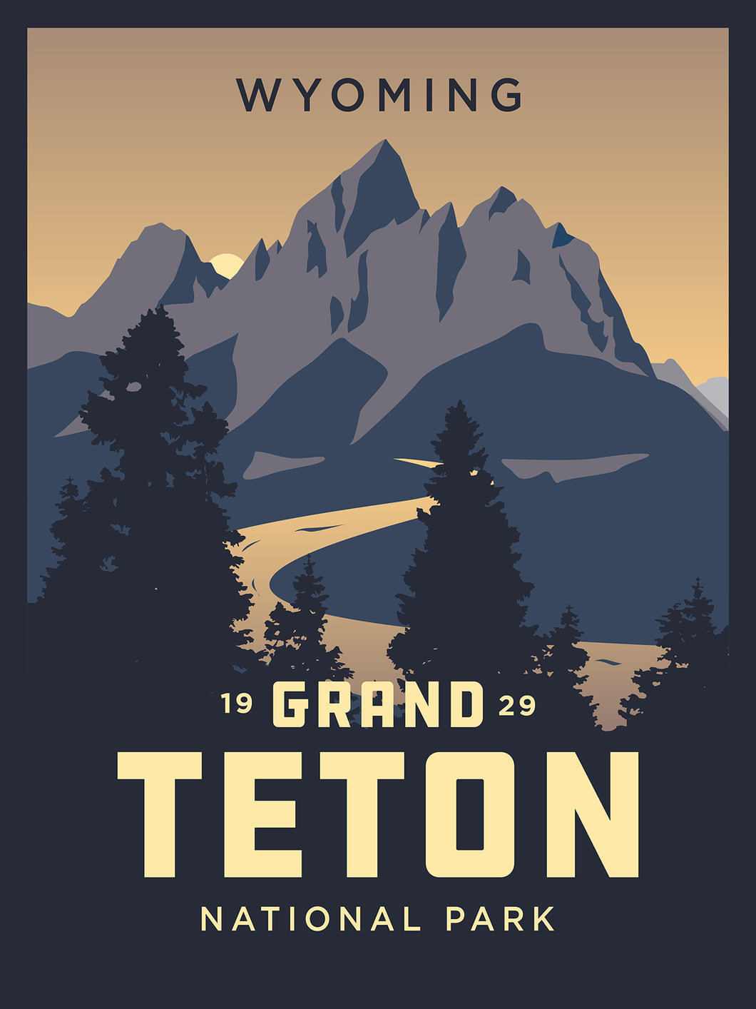 Grand Teton National Park | Vintage Inspired poster