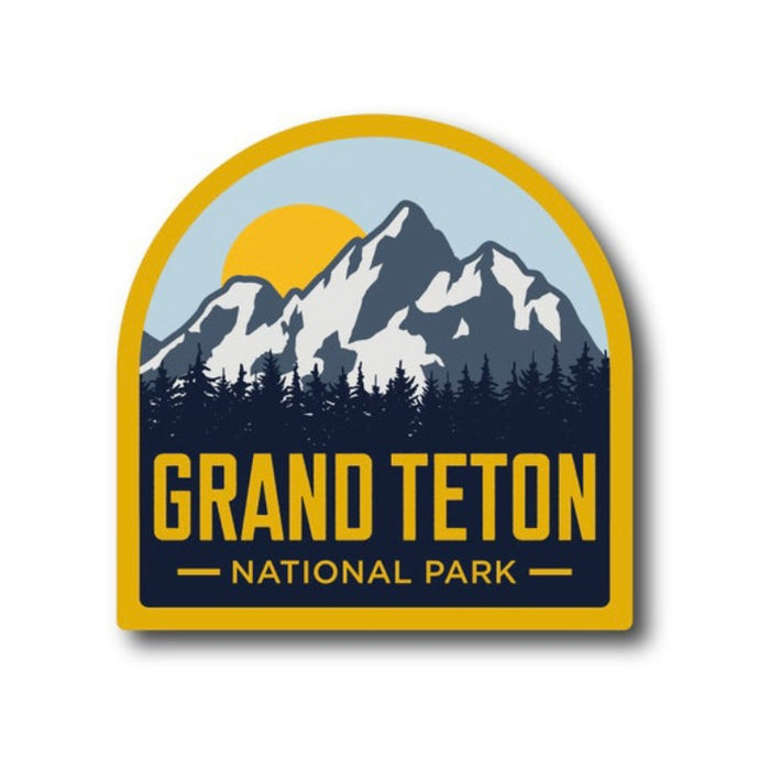 Grand Teton National Park Retro Vinyl Sticker
