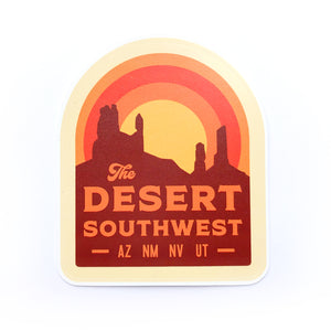 The Desert Southwest | Arizona | New Mexico | Nevada | Utah | Vinyl Sticker