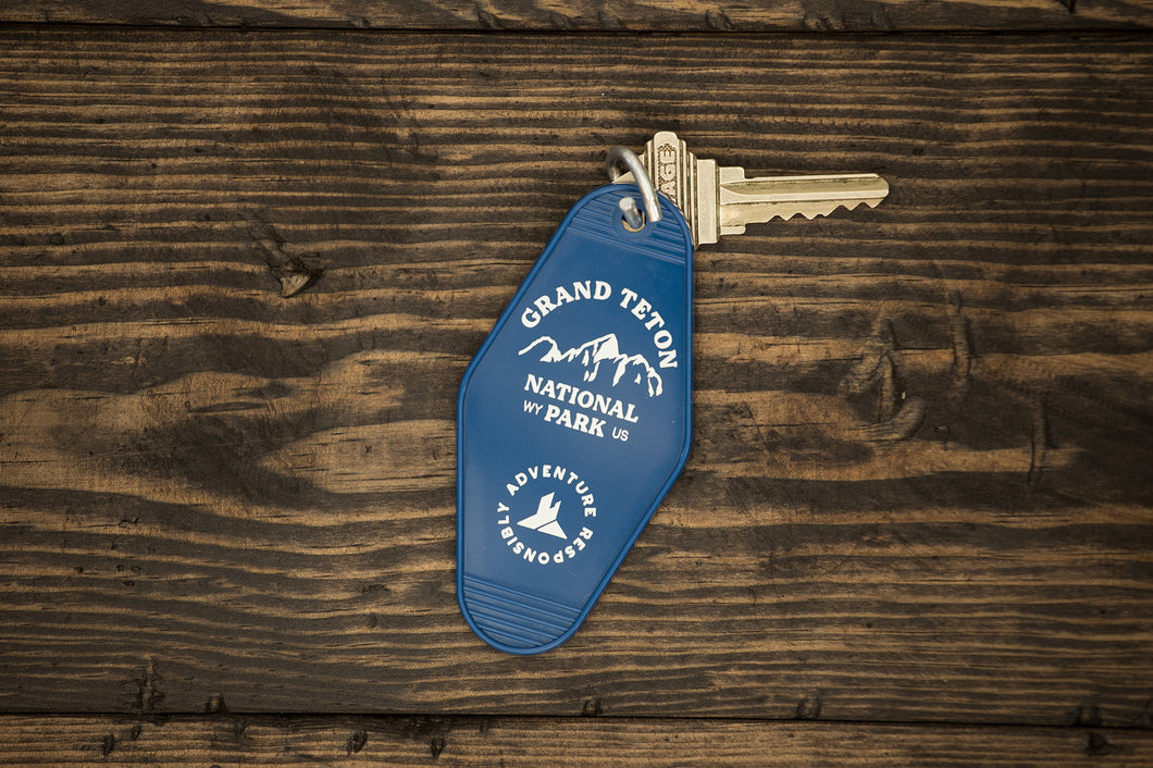 Grand Teton National Park Retro Hotel Key Tag