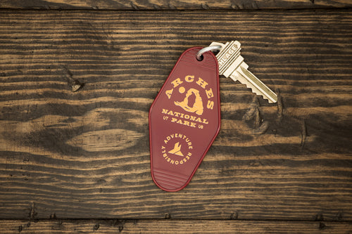 Arches National Park Retro Hotel Key Tag