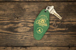Outside Hotel | Retro key chain