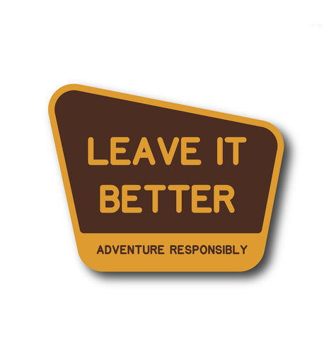 Leave It Better Vinyl Sticker