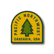 Load image into Gallery viewer, Pacific Northwest Vintage Tree Vinyl Sticker