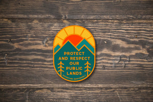 Protect and Respect Our Public Lands Conservation Vinyl Sticker