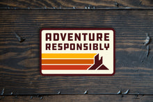 Load image into Gallery viewer, Adventure Responsibly Retro Lines Logo Sticker